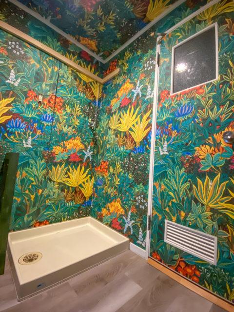 洗面所の床・フロアタイルと天井・壁クロスの貼り替えリフォーム