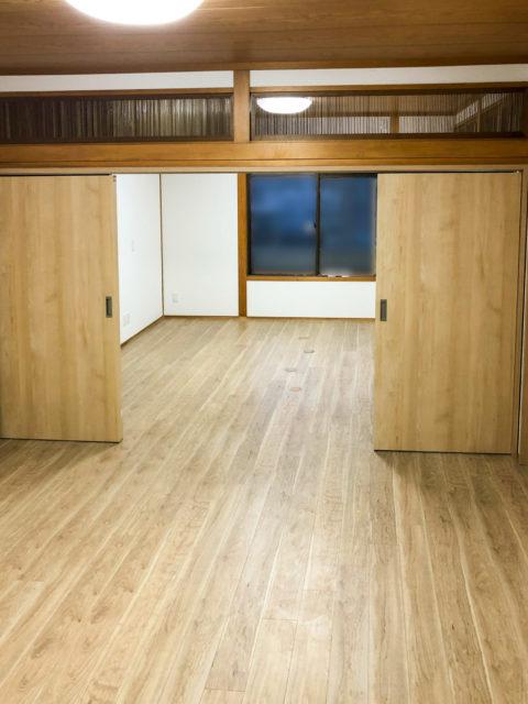 二間続きの和室を洋室化・オフィスにリフォーム