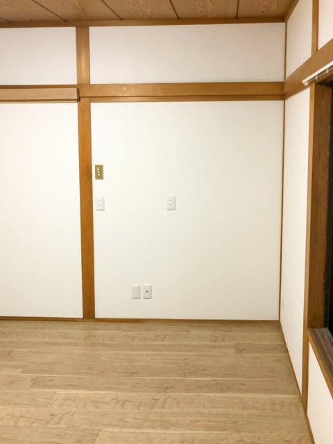 土壁からクロス(壁紙)貼りの壁へリフォーム