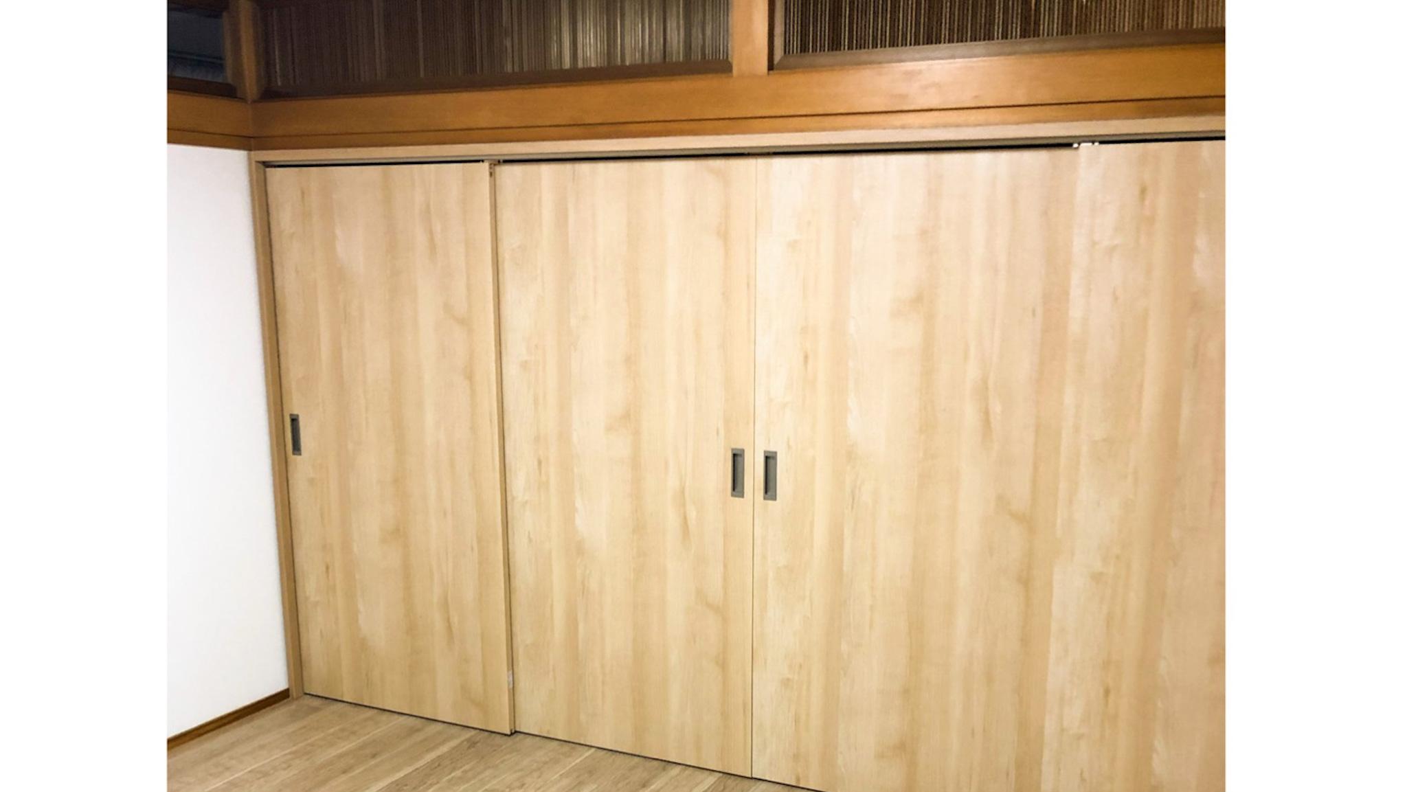 二間続きの和室をオフィスに/襖から上吊り建具へリフォーム(尼崎市)