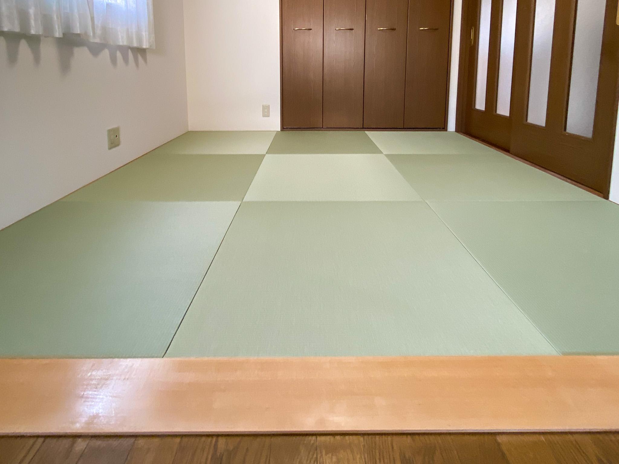 樹脂製琉球畳の新調リフォーム(神戸市戸建住宅事例)