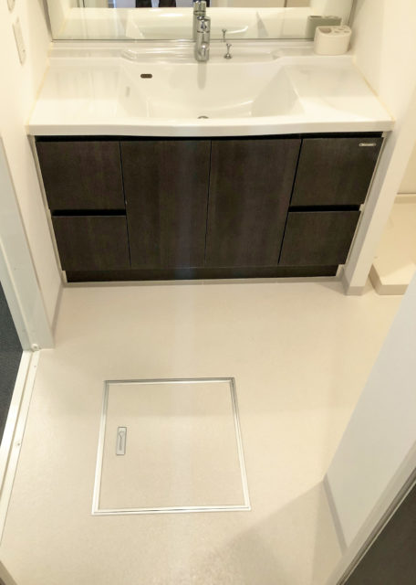 洗面所/クッションフロア・クロス(壁紙)貼替えリフォーム