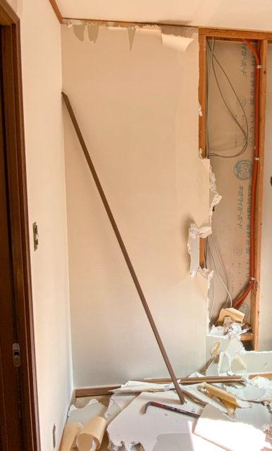 壁の解体・リビングの壁を撤去して、和室のある広々リビングダイニングキッチンへリフォーム