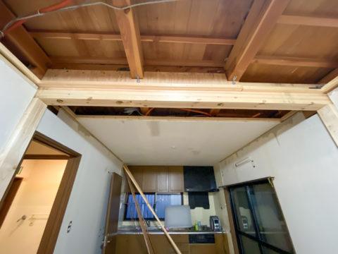 壁の撤去リフォームと垂れ壁施工