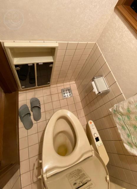 ニッチ収納があるトイレ